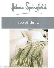 HELENA Springfield Designer Morbido Velluto SAGE CHATEAU Gettare Coperta 125X 180 cm