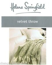HELENA SPRINGFIELD DESIGNER SOFT VELVET SAGE  CHATEAU THROW BLANKET 125x 180 CM