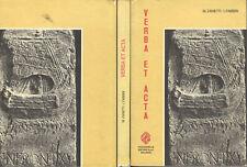 VERBA ET ACTA 1aP-Latino Magistrale Scientifico Grammatica-Incisioni Romane 1973