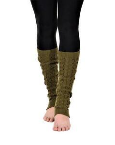 KESIS Women's Cable Knit Leg Warmers Knitted Crochet Long Socks