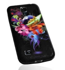 Design No.2 Silikon TPU Cover Samsung i9190 Galaxy S4 Mini + Displayschutzfolie
