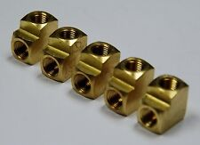"Brass Fittings: Brass 90° Elbow Extruded, Female Pipe Size 1/8"", QTY. 5"
