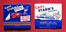 Old Captain Starns Atlantic City Matchbook Matches