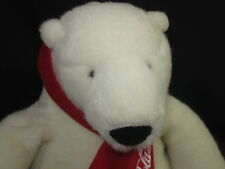 Coca-Cola Coke Soda Polar Bear Teddy Logo Scarf Plush European Community 2007