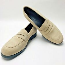 TOD'S Slip-Ons 7.5 Women's Beige Leather Loafers 38.5