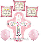 Baptism Pink Foil / Mylar and Latex Balloons Valued Pack  6 Balloons