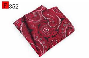 Blue Red Orange Purple Yellow Silver Black Patterned Pocket Square Handkerchief