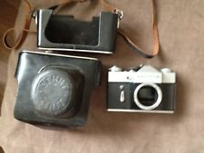2x vintage ZENIT B camera body's and cases