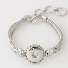 Fits Ginger Snaps SNAP BRACELET Silver Interchangeable Jewelry Snaps 18mm Metal