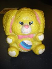 Vintage 1984 Small World Importing Co. Care Bear Coin Bank Made In Taiwan HTF