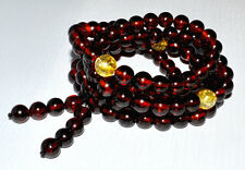 49g 9mm Prayer Beads Authentic Baltic Amber Bracelet Necklace AH250MM9