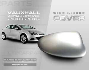 Vauxhall Astra J MK6 2010-2016 Wing Mirror Cover in Sovereign Silver RHS
