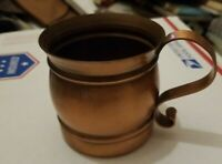 Vintage Gregorian Solid Copper Mug Moscow Mule Made in USA Cup
