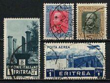 Eritrea 1931-36 Sc#151-154-164-C11 - Lot of 4 Used