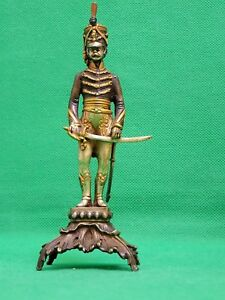 Giuseppe Vasari Statue / Figurine Soldier Bronze Sterling Silver 22k Gold (2)