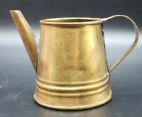 "Miniature Vintage Brass Watering Can 2.5"" H"