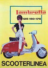 """TARGA VINTAGE """"1962 LAMBRETTA SCOOTERLINEA"""" Pubblicità Moto d' Epoca,SCOOTER"""