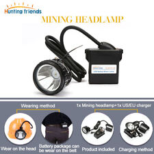 LED Miner Lamp Waterproof Head Flashlight Torch Explosion Proof Cap Headlight
