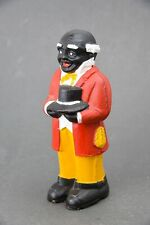 """Vintage Uncle Moses 8"""" Cast-Iron Bank/Doorstop"""