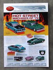 TRAX CATALOGUE 2008 Brochure 1/43 DieCast LX TORANA SS XC FALCON HQ MONARO E38