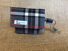Dog Pouch, Black Grey and Red Tartan - Dog Treat Bag / Dog Poo Bag Carrier