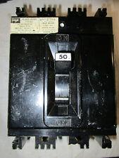 FPE NE231050, 50 Amp 3 Pole 240 Volt Circuit Breaker- RECON W/TEST REPORT