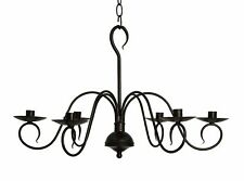 Black - Franklin Candle Chandelier Handcrafted By Katie's - New!