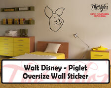 Walt Disney - Piglet Cartoon Logo Wall Vinyl Sticker