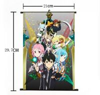 Hot Anime Sword Art Online Wall Poster Scroll Home Decor Cosplay 186