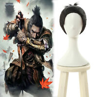 SEKIRO Shadows Die Twice Wolf Cosplay Party Wigs Men Short Straight Ponytail Wig