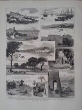 Antique (Pre-1900) White Landscape Art Prints