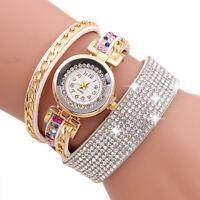 Women Fashion Watch Stainless Steel Quartz Bling Rhinestone Bracelet Wrist Watch