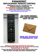 REPLACEMENT PANASONIC TV REMOTE CONTROL FOR ALL LCD/LED & PLASMA MODELS