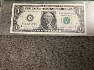 US Federal Reserve Note $1 Butterfly Error 1981 Graded 66