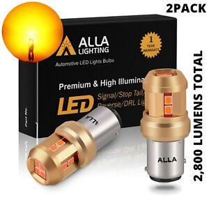 LED Yellow 7528 Front Turn Signal Lamp for Honda Toyota,Heavy Duty Aluminum Sink
