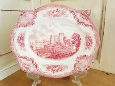 Johnson Brothers Old Britain Castles Pink Transferware Platter Made in England