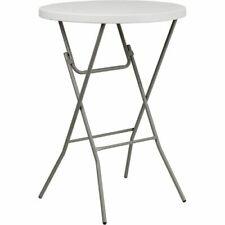 32'' Round Granite White Plastic Bar Height Folding Table Flarb32Rbbargwgg