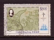 HONG KONG....  1984  $5 chinese style map used