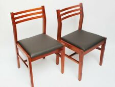 Pair of Retro Danish Style Teak Dining Chairs [ 5853 A ]