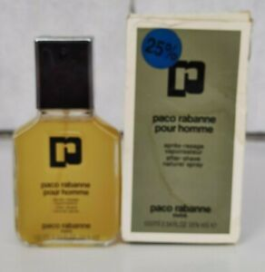 VINTAGE FRANCE PACO RABANNE POUR HOMME AFTER SHAVE 100 ml 3.4 oz SPRAY