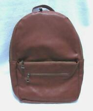 FAWN DESIGN + PASK Backpack BROWN Faux Leather Zipper Bag - Diaper Carry Travel