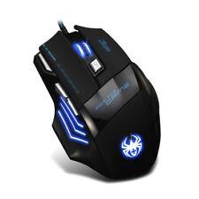 Zelotes Gaming Mouse USB con DPI fino a 5500 con 7 Tasti, Interfaccia USB 2 I3T6
