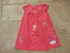 ADORABLE ROBE DPAM 2 ANS ROSE AVEC MOTIFS BRODES TBE