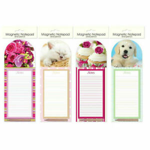 Magnetic Notepad and Pencil To Do List Shopping Fridge Magnet Pad CUPCAKE