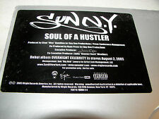 "SUNN.Y. SOUL OF A HUSTLER 12"" Single NM Virgin 7078-6-19364-1-4 2005 PROMO"