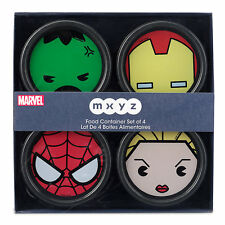 Disney Marvel MXYZ Storage Food Container - Set 4 - Iron Man, Hulk, Spider Man..