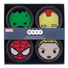 Disney Marvel MXYZ Storage Food Container - Set 4 - Iron Man, Hulk, Spider Man..