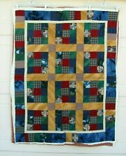 Unfinished Quit Project Hand Pieced Top w/ Batting & Back Partially Quilted