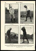 Metropolitan Golf champions Hamilton Douglas Travis McDonald 1901 Vintage Print
