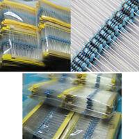 300pcs 30 Values 1/4W 1% Metal Film Resistance Resistors Assortment Set Kit Inno